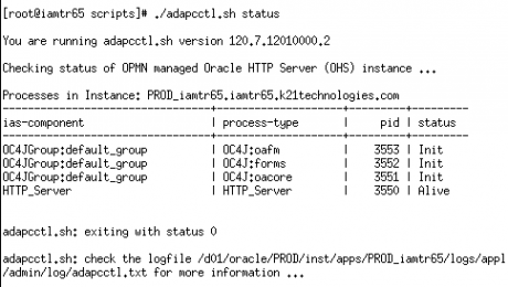 Post Install check failed on the HTTP Server |